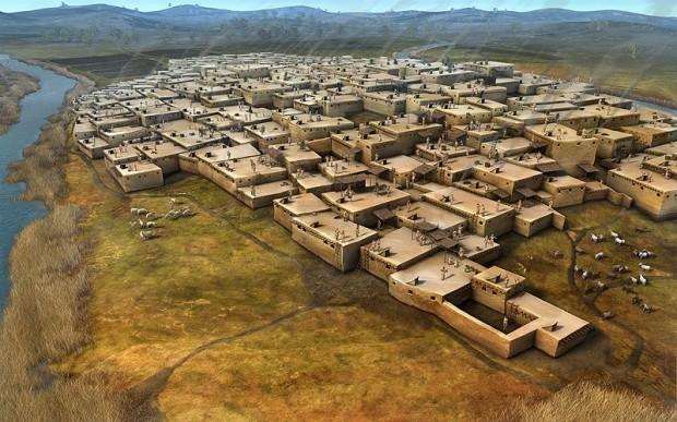 Древний город Чатал-Хююк (Çatal Hüyük)