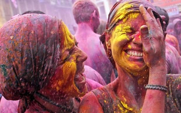 Индия: фестиваль красок Холи