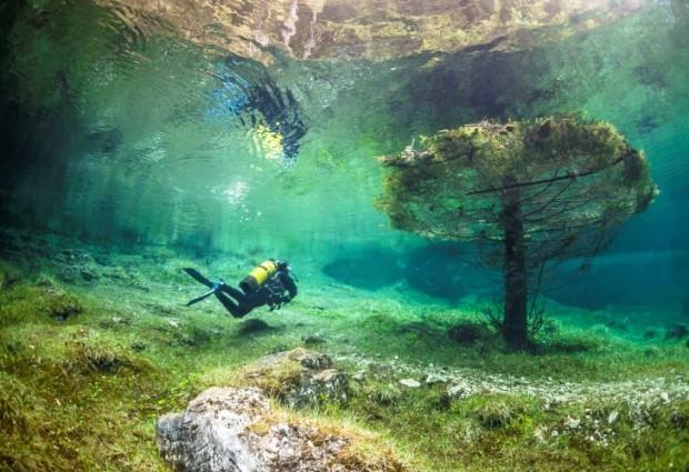 Интересные места Европы: Зеленое озеро горы Хочшваб