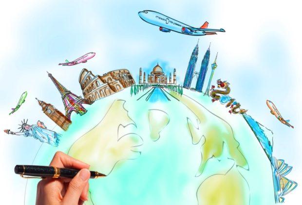 Нарисуй свое путешествие…простой ручкой