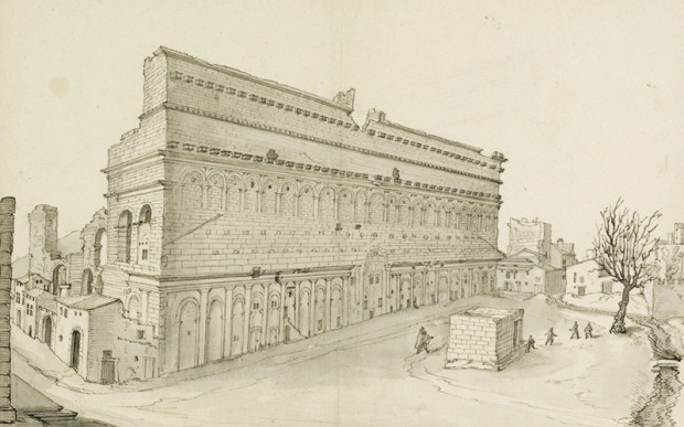 Руины замков и городов Франции на картинах 18 века