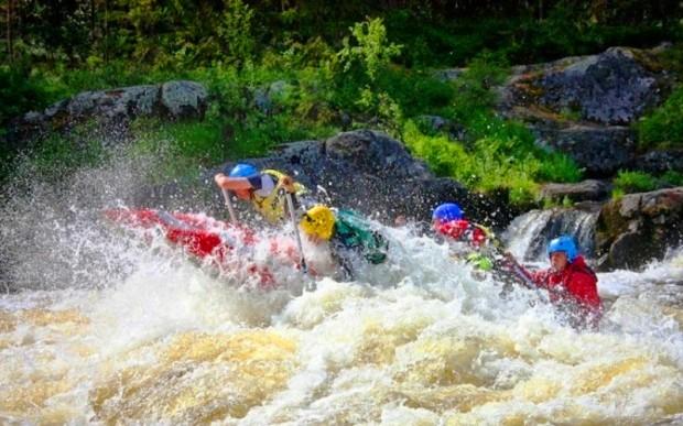 Спуск по реке Пистайоки в Карелии