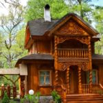 Дома из клееного бруса в резиденции белорусского Деда Мороза