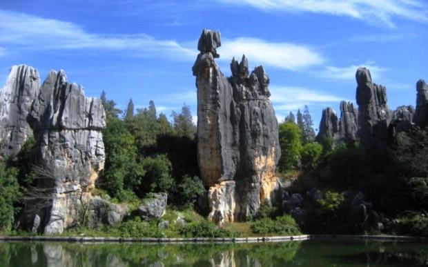 Интересные места мира: каменный лес, Китай