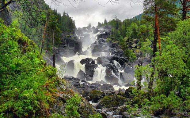 Красоты Горного Алтая – водопады