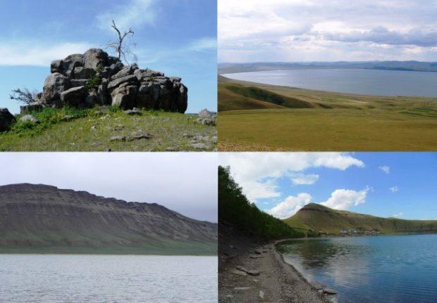 Мегалиты озера Шира, Хакасия