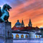 Мост Змея. Любляна, Словения (8 фото)