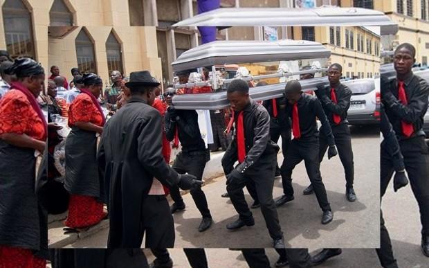 Танцы с гробами, мем, Гана
