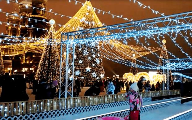 Парк «Патриот» в Новогодние праздники, Кубинка